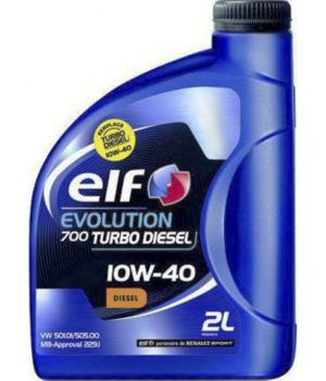 Моторне масло Elf Evolution 700 Turbo Diesel 10W-40 2 літри