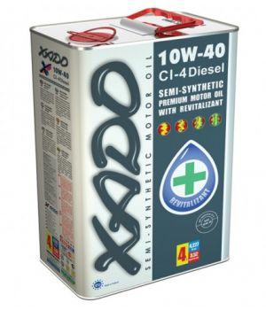 Моторне масло Xado Atomic CI-4 Diesel 10W-40 4 літри