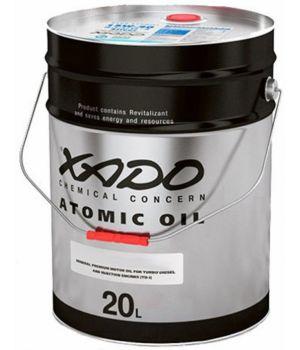 Моторне масло Xado Atomic SG / CF-4 Silver 10W-40 20 літрів