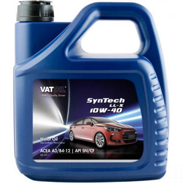 Моторне масло VATOIL Syntech LL-X 10W-40 4 літри.