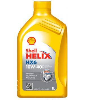 Моторне масло Shell Helix HX6 10W-40 1 літр