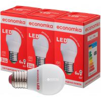 Светодиодная лампа Economka LED G45 6W E27 4200K 3 шт.