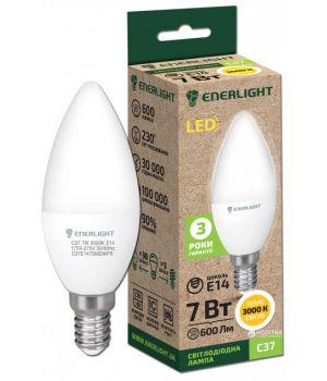 Светодиодная лампа Enerlight С37 7W 3000K E14