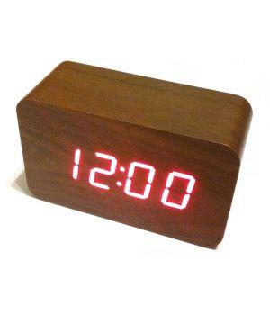 Часы в виде бруска дерева vst-863